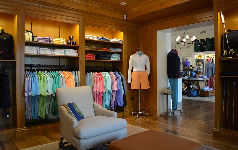 Pro shop merchandising displays from Sterling Grey
